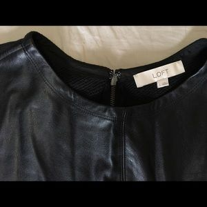LOFT Tops - Faux Leather Top